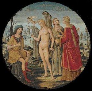 Juicio de Paris, Benvenuto. 1510 aprox.