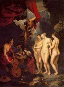 El Juicio de Paris de Rubens, 1621.