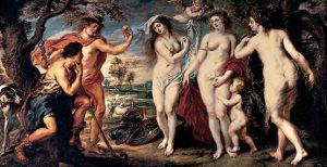 Juicio de Paris, Rubens. 1640 aprox.